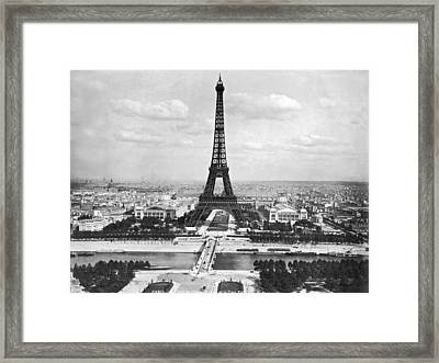 Eiffel Tower Framed Print by Underwood Archives
