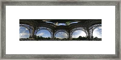 Eiffel Tower Unwrapped Framed Print by Gary Lobdell