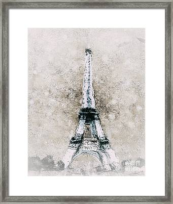 Eiffel Tower Wall Art Framed Print