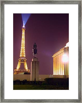 Eiffel Tower With A Monument Framed Print