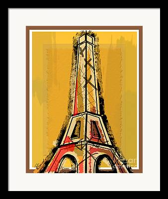 Yellow And Red Framed Prints