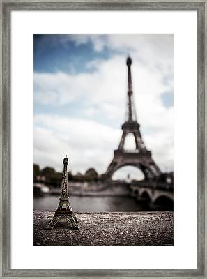 Eiffel Trinket Framed Print by Ryan Wyckoff