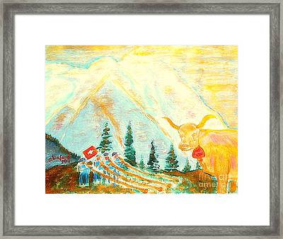 Eiger Mountain Above Grindelwald Switzerland 1 Framed Print by Richard W Linford