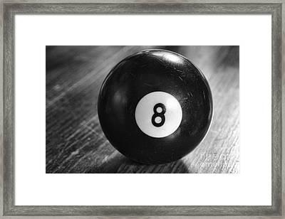 Eight Ball Framed Print by Paul Ward