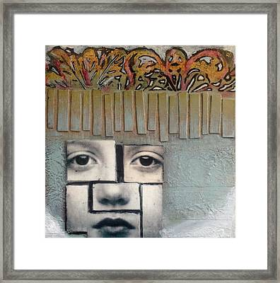 Eight By Eight Gris Framed Print