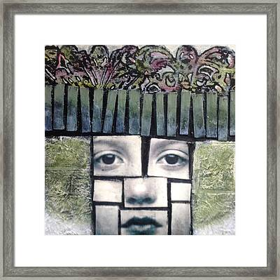 Eight By Eight Verde Framed Print by Susan McCarrell