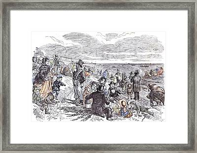 Eight Hours At The Sea-side J Framed Print