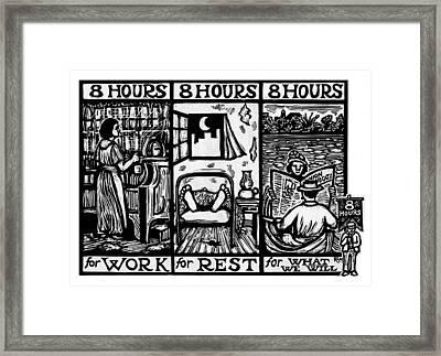 Eight Hours Framed Print