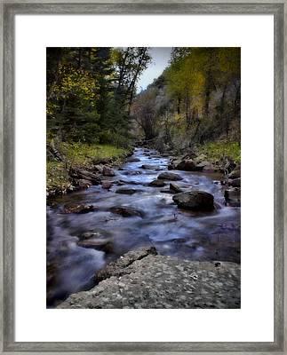Eight Mile Creek Framed Print by Ellen Heaverlo