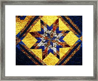 Eight Pointed Star Framed Print