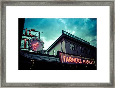 Eight Thirty Four At The Farmers Market Framed Print by Brian Xavier