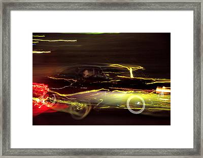 Framed Print featuring the photograph Eighty Eight Miles Per Hour by Jason Politte