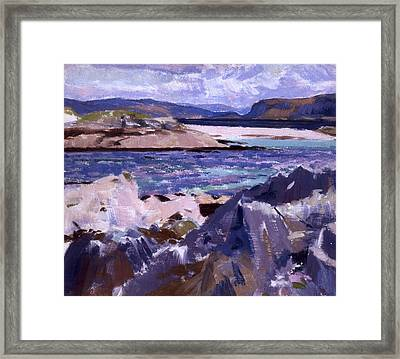 Eilean Annraidh From The North End Framed Print by Francis Campbell Boileau Cadell