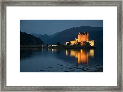 Eilean Donan Castle At Night Framed Print