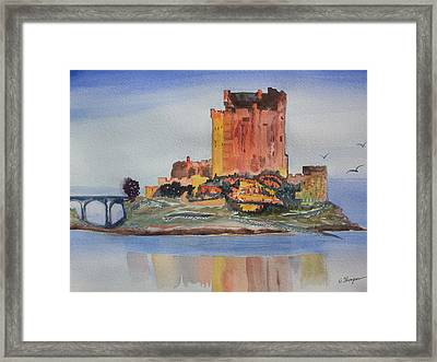 Eilean Donan Castle  Dornie Inverness Shire Scotland Framed Print by Warren Thompson