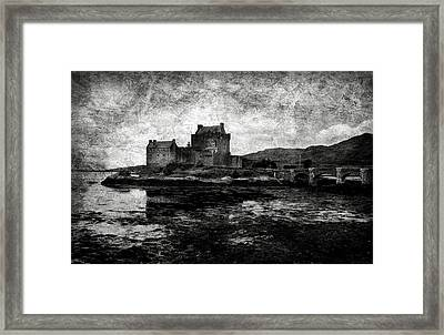 Eilean Donan Castle In Scotland Bw Framed Print by RicardMN Photography