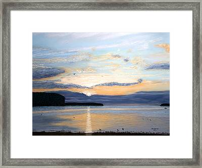 Eileen's Sunset Framed Print