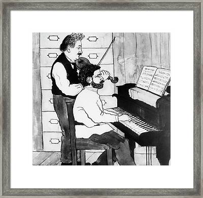 Einstein And Ehrenfest Duet In Leiden Framed Print by Emilio Segre Visual Archives/american Institute Of Physics