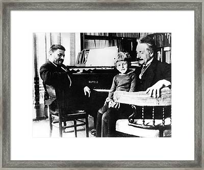 Einstein And Ehrenfest Framed Print