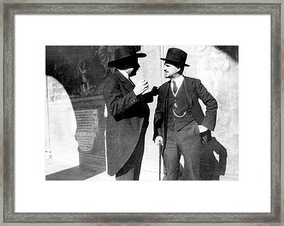 Einstein And Enriques Framed Print by Emilio Segre Visual Archives/american Institute Of Physics
