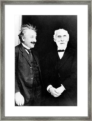 Einstein And Lorentz Framed Print