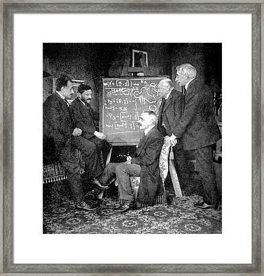 Einstein And Other Physicists In Leiden Framed Print by Emilio Segre Visual Archives/american Institute Of Physics
