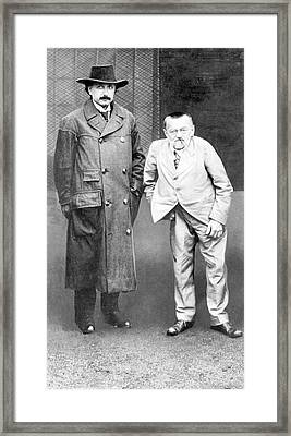 Einstein And Steinmetz Framed Print by Emilio Segre Visual Archives/american Institute Of Physics