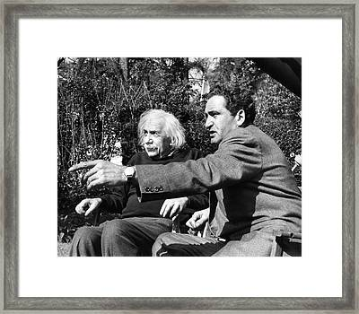Einstein And Zvi Gezari Framed Print