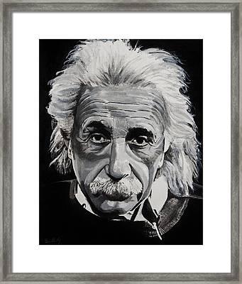 Einstein  Framed Print by Brian Broadway