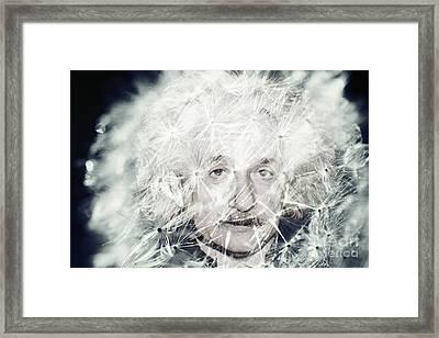Einstein Dandy Framed Print by Mindy Bench