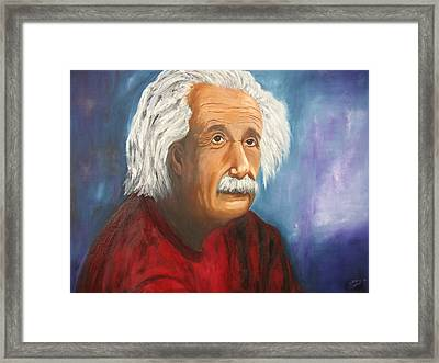 Einstein Framed Print by Doris Cohen