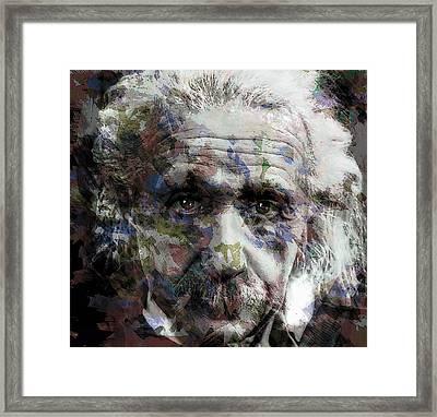 Einstein Genius Framed Print by Daniel Hagerman