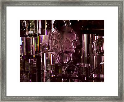 Einstein In Crystal - Purple Framed Print