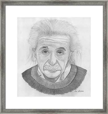 Einstein Portrait Framed Print