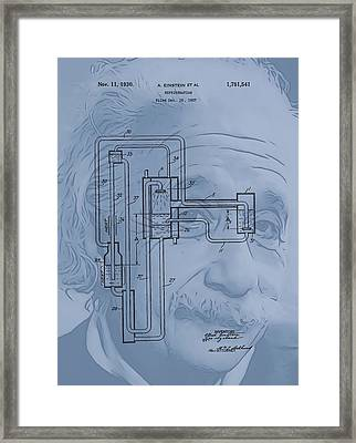 Einstein Refrigerator Framed Print by Dan Sproul