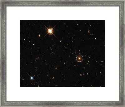 Einstein Ring Around Lrg 3-757 Framed Print