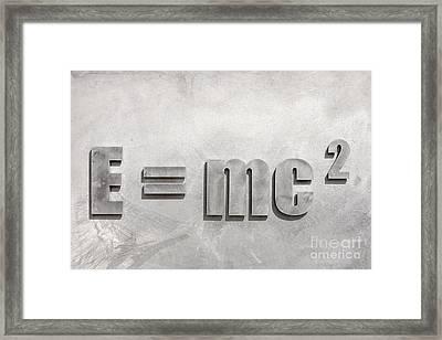 Einstein Sculpture Emc2 Canberra Australia Framed Print by Colin and Linda McKie