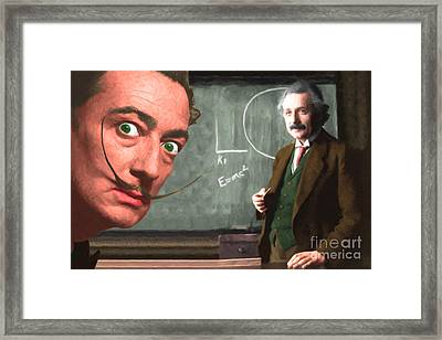 Einstein Shows Dali The Theory Of Relativity 20141215 Framed Print by Wingsdomain Art and Photography