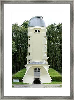 Einstein Tower Framed Print by Detlev Van Ravenswaay