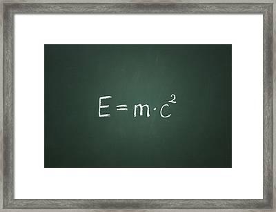 Einsteins Formula Framed Print