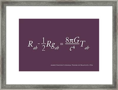 Einstein's Theory Of Relativity Framed Print
