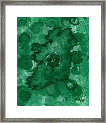 Eire Heart Of Ireland Framed Print by Alys Caviness-Gober