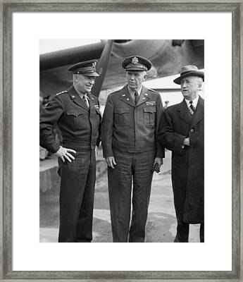 Eisenhower & Marshall 1944 Framed Print by Granger