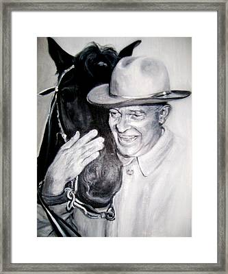 Eisenhower And Doodle De Doo Framed Print