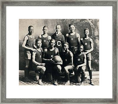 Ej Hooper Basketball Team Framed Print