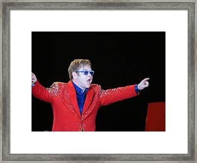 Ej Plays Soldout Concert Framed Print by Aaron Martens