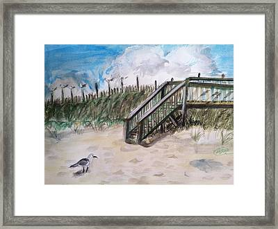 Ejoying The View  Framed Print by Asuncion Purnell