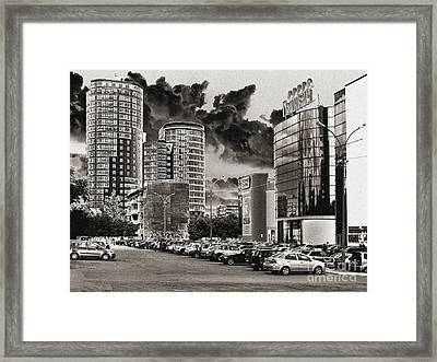Framed Print featuring the pyrography Ekaterinburg by Evgeniy Lankin