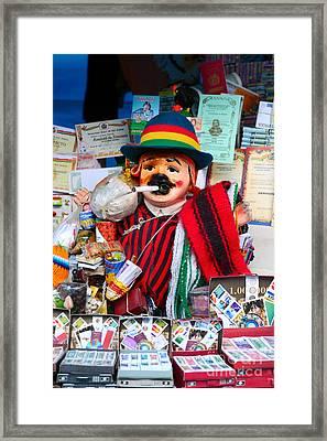 Ekeko At Alasitas Festival Framed Print by James Brunker