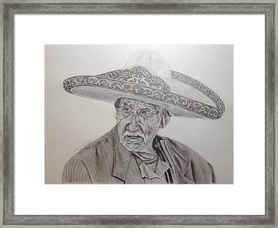 El Abuelo Charro Framed Print